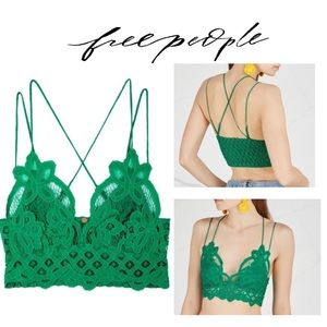 ⭐️ FREE PEOPLE One Adella Bralette- Green